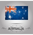 geometric polygonal Australia flag vector image vector image