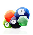 glass glossy shiny hexagon web elements vector image vector image
