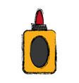 glue bottle icon vector image vector image