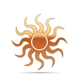 Gold Sun-sign icon on white background vector image vector image