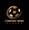 golden ball logo vector image vector image