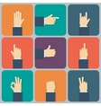 Hands flat icon vector image vector image