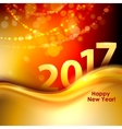 Happy New Year background with gold wave vector image