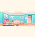 hospital hallway empty clinic corridor interior vector image vector image