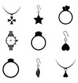 jewelry and accessories icon set vector image vector image