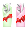 knife and fork vector image vector image