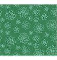 Line art succulent plant seamless pattern vector image vector image