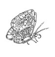 mechanical butterfly animal engraving vector image