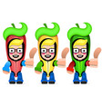 mexican hot chili pepper colors hot chili vector image vector image