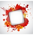Modern white frame with red blots vector image vector image