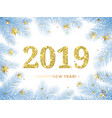 new year glitter and christmas tree stars vector image