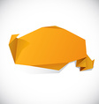 Origami orange wallpaper vector image