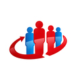 people in circle abstract family logo vector image vector image