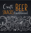 pub food and beer seamless border vector image vector image