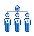 real estate auction line icon vector image