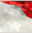 Red and white Polygon Background vector image vector image