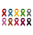 ribbon color collection set concept vector image vector image