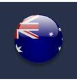 Round icon with flag of Australia vector image