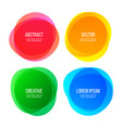 round shape banners abstract color graphic design vector image