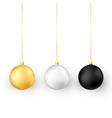 set christmas balls realistic glossy xmas vector image vector image