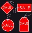 set of bright red-white sale banners label and vector image vector image