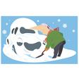 Snowdrift vector image