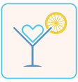 summer party cocktail vector image