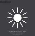 sun premium icon white on dark background vector image vector image