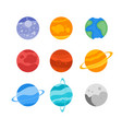 the planets of the solar system set icon mercury vector image vector image