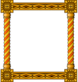traditional column frame bottom vector image vector image