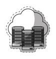 web hosting server banner icon vector image vector image