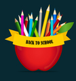 Welcome back to school with Apple and Color vector image vector image