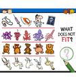 what does not fit cartoon game vector image vector image