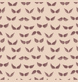 wings silhouettes seamless pattern fashion vector image