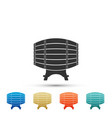 wooden barrel on rack icon on white background vector image vector image