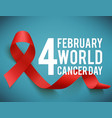world aids and cancer day symbol vector image vector image