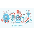 Modern Flat thin Line design Start up and vector image
