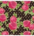 flower retro background vector image