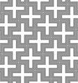 hinduism swastika ornament pattern vector image