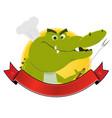 crocodile restaurant banner vector image