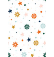 abstract christmas pattern with snowflakes vector image