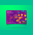 abstract colorful card or cover template with vector image vector image