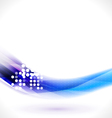 Abstract flow blue line for technology vector image