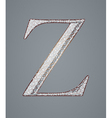 Abstract letter Z vector image