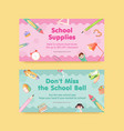 back to school and education concept with twitter vector image vector image