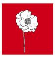 black and white poppy flower blossom vector image vector image