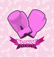 blonde boxing logo for comic female boxing Pink vector image vector image