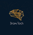 brain tech logo concept for new communication vector image vector image