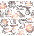 Christmas Sketch Seamless Pattern vector image vector image