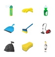Cleansing icons set cartoon style vector image vector image